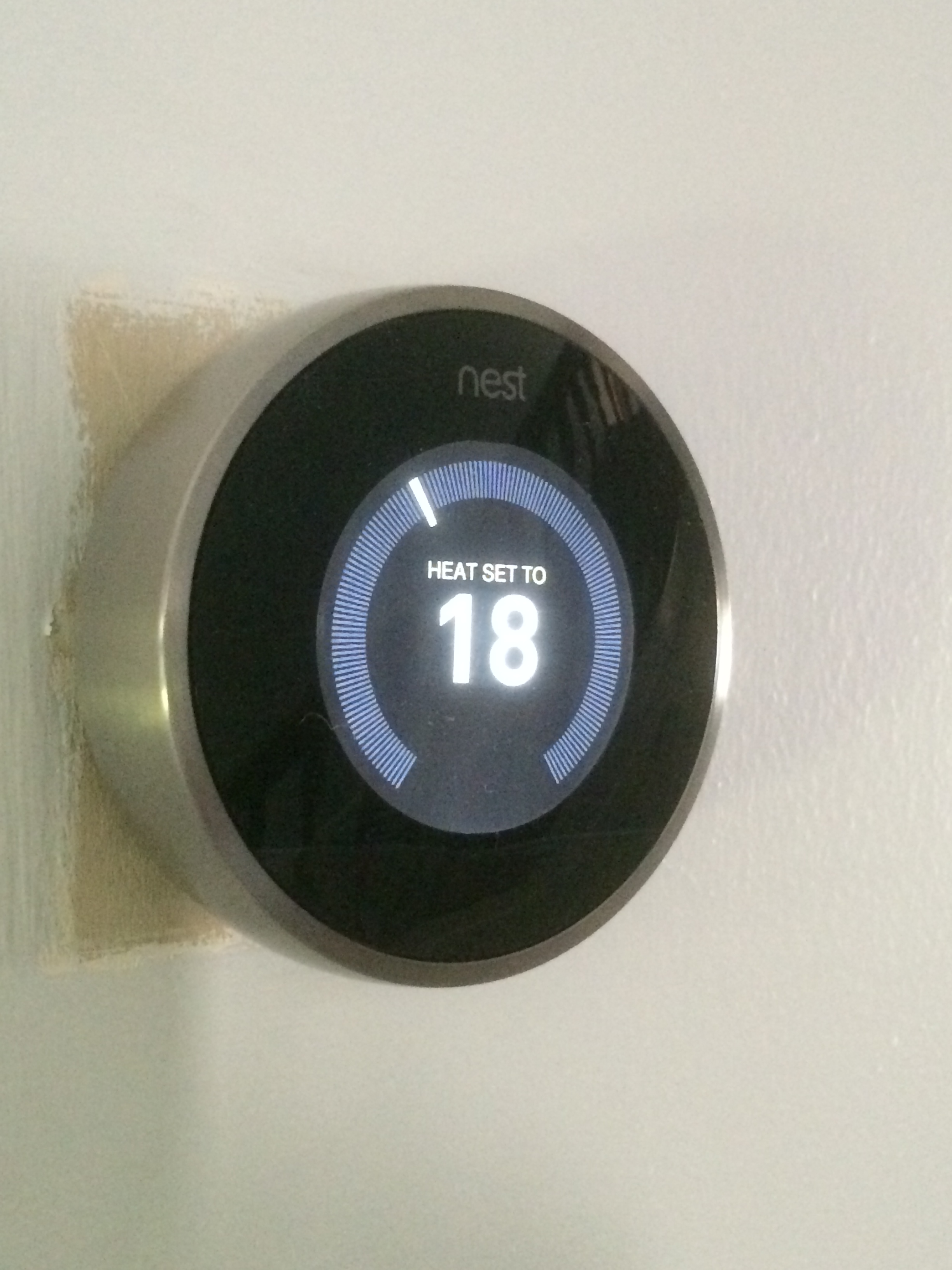 Installation Of A Nest Learning Thermostat In April 2014